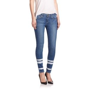 Paige Jimmy Skinny Painted Stripe Jeans Size 26